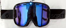 NEW $85 Scott Womens Avie Black winter Snow Ski goggles Ladies Smith Blue Lens