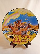 "Noah's Ark Collector Plate Rainbow Of Promise 1996 Linda Undernehr 8"" Porcelain"