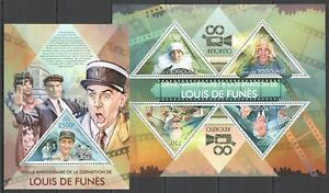 TG693 2013 TOGO TRIBUTE TO GREAT CINEMA ACTOR LOUIS DE FUNES KB+BL MNH