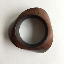 Danish Monies Gerda Lynggaard Vintage Wooden Cuff Bangle Brown Teak Gift
