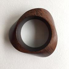 Danish Monies Gerda Lynggaard Vintage Wooden Cuff Bangle Brown Teak Gift