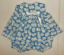 Blue Daisy Print Sleeveless Dress to fit Deluxe Reading Baby Boo Doll