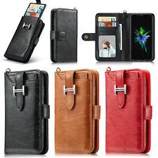 For Apple iPhone XR XS Max Premium Genuine Leather SLIM Purse Wallet Case Cover