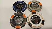 Harley-Davidson 115 Years Anniversary, Collectors Poker Chips 4 Pcs  4 colors
