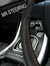 FOR AUSTIN MINI 1275 GT TRUE LEATHER STEERING WHEEL COVER BROWN DOUBLE STITCHING