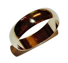 Fully Hallmarked 9ct Yellow Gold 5mm Plain Wedding Band - UK Size: M 1/2