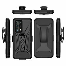 For Huawei P40 Pro lite E Rugged Armor Hard Case Stand Cover Belt Clip Holster
