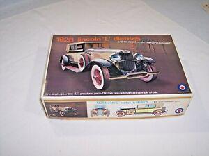Entex 1928 Lincoln Dietrich convertible sedan model kit