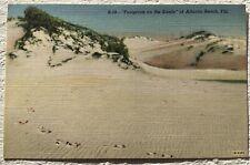 Postcard FootPrints on the Sand of Atlantic Beach FLA.