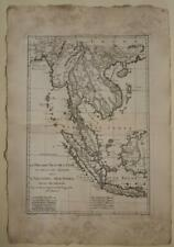 SOUTHEASTERN ASIA INDONESIA EAST INDIES 1787 BONNE ANTIQUE COPPER ENGRAVED MAP