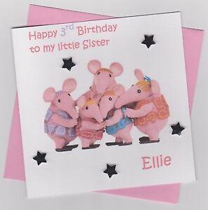 Personalised Handmade Clangers Birthday Card - Son, Daughter, Nephew, Niece etc