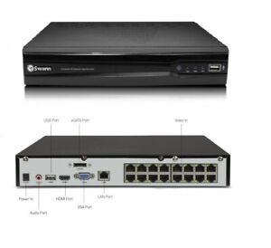 Swann NVR CCTV Recorder NVR16 7400 16 Channel 1080p 2TB HDD PoE Network