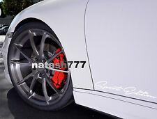 2 - SPORT Edition Performance car Decal sticker emblem logo WHITE Fits: PORSCHE