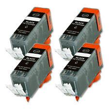 4 PK BLACK Premium Ink Cartridge plus CHIP for Canon PGI-225PGBK iP4820 iP4920