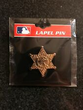 HOUSTON ASTROS GOLD SHERIFF BADGE PIN - WORLD SERIES - PSG COLLECTIBLE PIN - NEW
