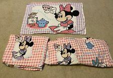 Disney Minnie Mouse Daisy Duck  Tea Party Twin Sheet Set 3 pieces INTERNATIONAL