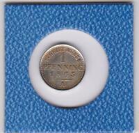 1 Pfennig Preussen 1865 A Probe aus Nickel magnetisch Prussia