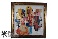 "Barbara Mari Berkman 44"" Mixed Media Oil Painting Flamenco Dancers Bullfighter"
