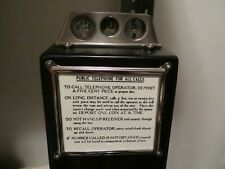 Gray / Western 3 slot payphone Sign Glass