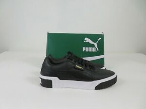 Puma Cali Bold Athletic Fashion Shoes Black White Logo Womens Size 7, NEW