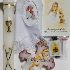 First Communion Candle Gift Set Girl First Communion Gift Set Girl Comunion Nina