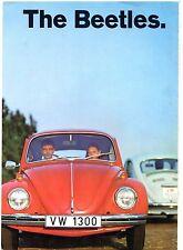 Volkswagen Beetle 1969-70 UK Market Foldout Sales Brochure 1200 1300 1500