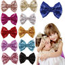 Baby Girl Kids Sequin Bowknot Bow Hair Clip Hair Bow Clips Hair Pins Xmas GiftLJ