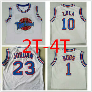 Jordan 23# Space Jam Tune Squad Baby Basketball Jersey and Shorts Lola10# Bugs
