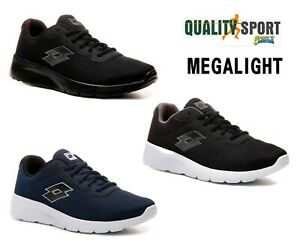 Lotto Megalight III Nero Blu Scarpe Uomo Sportive Running Palestra Offerta