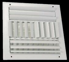 SQUARE AIR REGISTER Adjustable Wall Ceiling 10 x 10 Duct Size White AC Heating