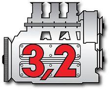Porsche Vintage 911 3.2 engine vintage Sticker Decal
