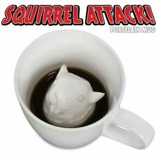 Peek-a-Boo Creature Squirrel Mug Squirrel Attack Porcelain Mug Milk Coffee Cup