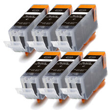 6 BLACK Replacement Ink for Canon BCI-3e i550 i560 i850 i860 iP3000 iP4000 MP750