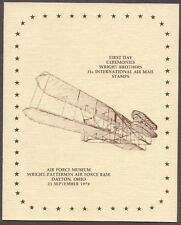 #C91-#C92 31c Wright Brothers Stamps First Day Ceremony  Program