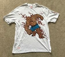 "MARVEL ""THING"" T-SHIRT. SIZE L (42""). WHITE. 100% COTTON. RRP £30."