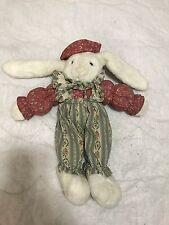 "T.L. Toys White Bunny Rabbit In Vintage Clothes 16"" Tall"