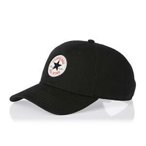 CONVERSE MENS BASEBALL CAP.NEW TIP OFF CHUCK BLACK ADJUSTABLE STRAPBACK HAT 8474