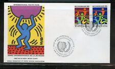 Keith Haring Cacheted Wfuna 1984 Youth Año Viena Juego En Uno Primer Día Funda