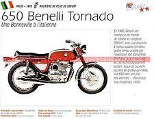 BENELLI 650 Tornado 1970 Fiche Moto 000151