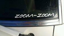 """Mazda window decal sticker """"ZOOM-ZOOM"""" NEW 8'x.75"""