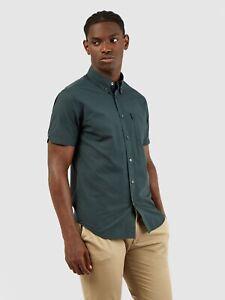 Ben Sherman Signature Core Gingham Short Sleeve Check Shirt Dark Green 0059142