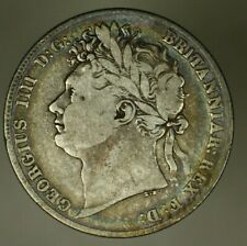 Great Britain Silver 1/2 Crown 1821 George IV  A1037