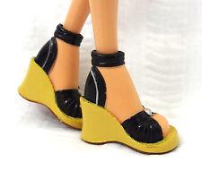 Barbie My Scene Doll Wedge Open Toe Sandal High Heel Shoes Ankle Strap Pearl