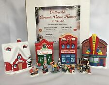 Collectible Ceramic Votive Houses Looney Tunes Coca Cola Rudolph Campbells Soup