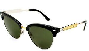 New GUCCI GG4283/S CSA1E Sunglasses Shades BLACK GOLD Style Cat Eye RARE