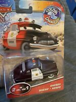 2020 Disney Pixar Cars Color Changers SHERIFF Changes Black To Red NEW 2020