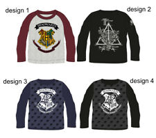 Harry Potter Hogwarts Boys Long Sleeve T-shirt, Top Official Licenced 6-13 yrs