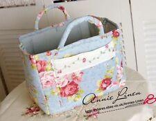 Annie Blue Country Patchwork Laura Ashley Fabric Storage/Laundry Basket/Bag B07