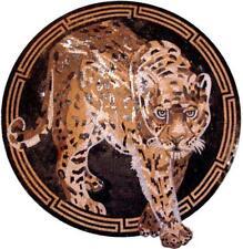 Mosaic Art Medallion - Gazing Leopard Mosaic Animals Mosaic Tile