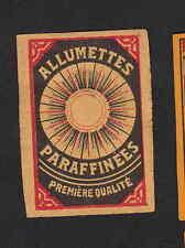 Ancienne étiquettes allumettes Belgique  BN3627 Soleil